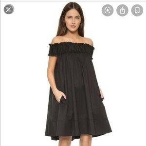 Hatch black off the shoulder maternity dress